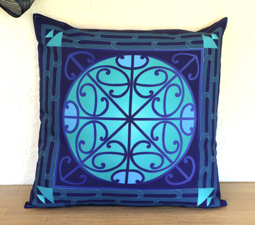 Puti Cushion Cover (Kikorangi)