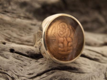 Tiki - Half Penny Coin Ring (lg) 25mm